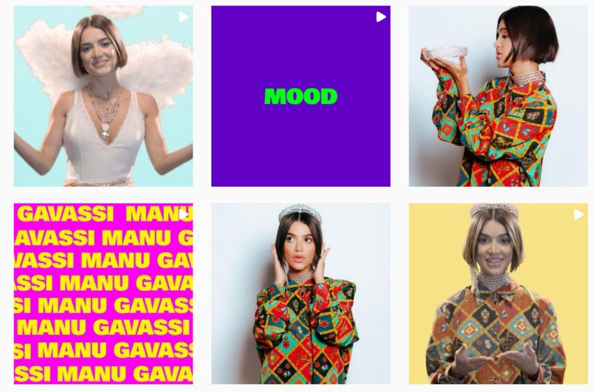 A imagem contém o Feed do Instagram da cantora e atriz Manu Gavassi durante sua participação na vigésima edição do reality show 'Big Brother Brasil'.